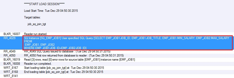 How to join two tables – Source Qualifier - SQL Query