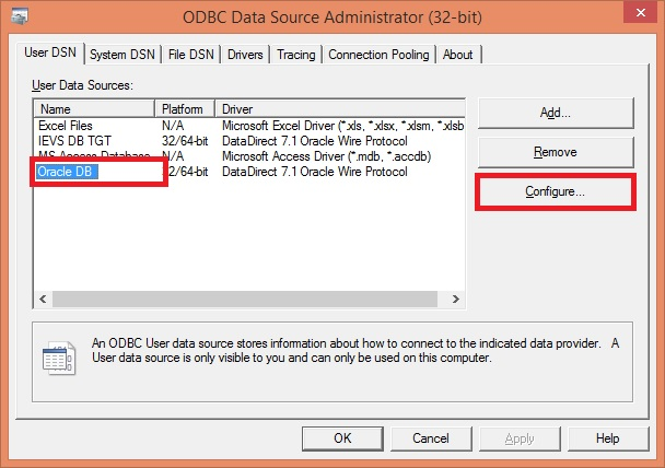 How to fix [Informatica][ODBC Oracle Wire Protocol Driver] Optional