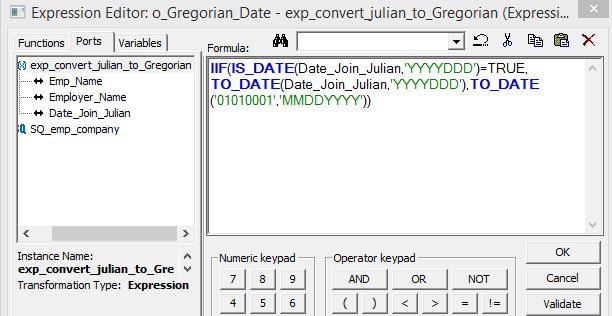 How to Convert Julian to Gregorian date in Informatica