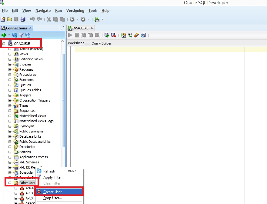 How to create connections in Oracle SQL developer - Explore Informatica